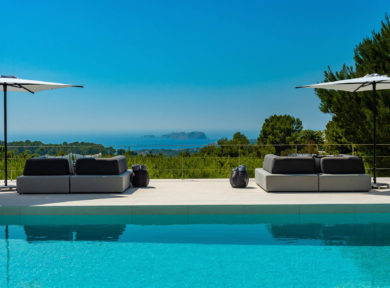 5 bedroom villa for rent near Cala Tarida Ibiza. Villa de 5 dormitorios en alquiler cerca de Cala tarida, Ibiza