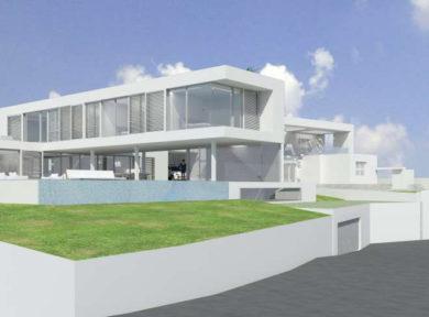 Plot with project 4 bedroom modern villa for sale in Vista Alegre, Es Cubells, Ibiza