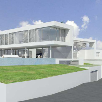 Plot with project 4 bedroom modern villa for sale in Vista Alegre, Es Cubells, Ibiza