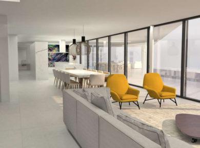 project of modern villa in Vista Alegre Ibiza