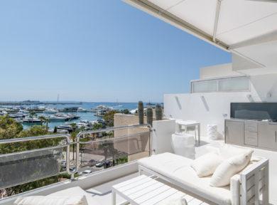 Duplex penthouse apartment for sale in Marina Botafoch Ibiza